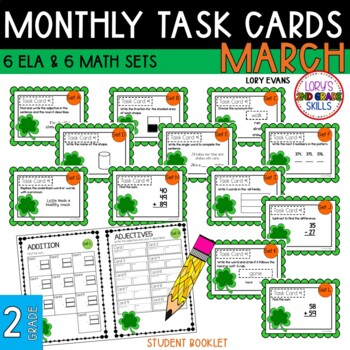 "2nd Grade ""Teacher, I'm Done!"" Task Cards for March"