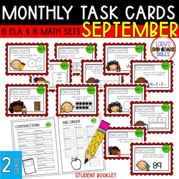 "2nd Grade ""Teacher, I'm Done!"" Task Cards for September"
