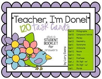 "2nd Grade ""Teacher, I'm Done!"" Task Cards for Spring"