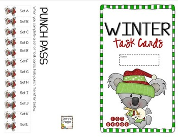 """1st Grade """"Teacher, I'm Done!"""" Task Cards for Winter"""