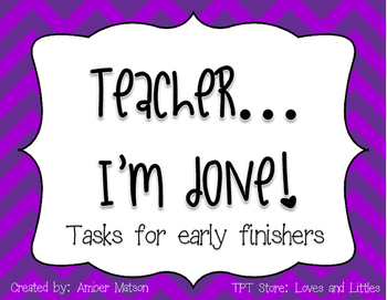 Teacher...Im done