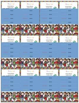Teacher Info Cards *For Parents* Editable!
