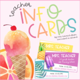 Teacher Info and Business Cards - EDITABLE!
