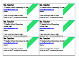 Teacher Information Card-editable