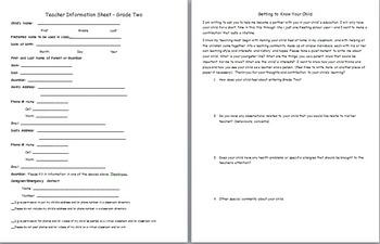 Teacher Information Form