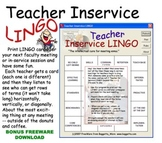 Teacher Inservice LINGO game for meetings