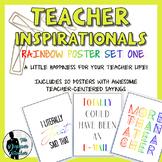 Teacher Inspirationals - Rainbow Poster Set