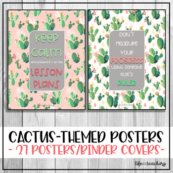 Teacher Cactus Themed Posters