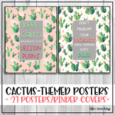 Teacher Cacti-themed Posters