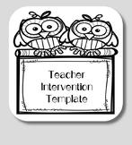 Teacher Intervention Template