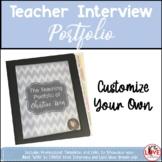 Teacher Interview Portfolio- Editable