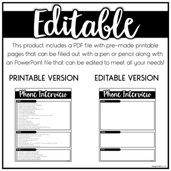 Teacher Interview Prep | EDITABLE