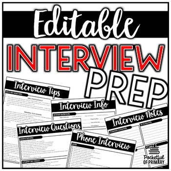 teacher interview prep editable