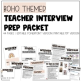 Teacher Interview Prep Packet   Editable