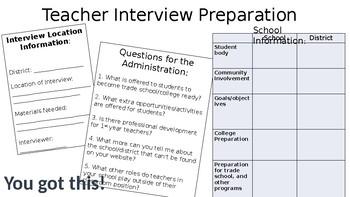 Teacher Interview Preparation