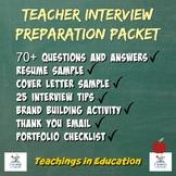 Teacher Interview Preparation Packet
