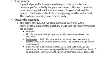 Teacher Interview Tips