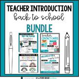 Teacher Introduction Back to School Bundle - Google Slides - Editable