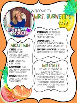 Teacher Introduction Fruit Edition