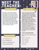 Teacher Introduction Letter Template - Blue with Gold Arrows