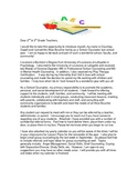 Teacher Introduction Letter from Counselor