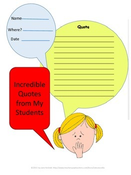 Teacher Journal for Student Quotes