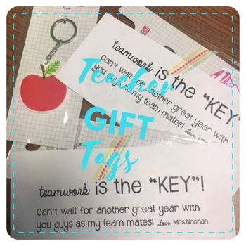 Teacher Key Chain Gift Tags
