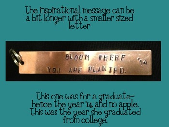 Teacher Key Chains- A Personalized Gift!