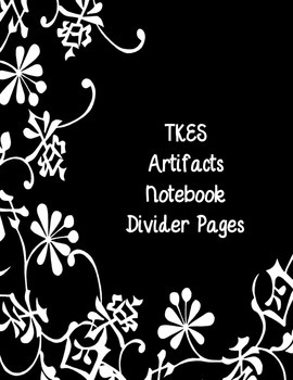 Teacher Keys (TKES) Notebook Cover Pages for Artifacts
