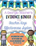 Teacher Keys Effectiveness System (TKES) TAPS Teacher Evidence Binder