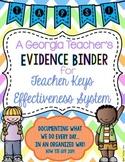 Teacher Keys Effectiveness System (TKES) TAPS Teacher Evidence Binder