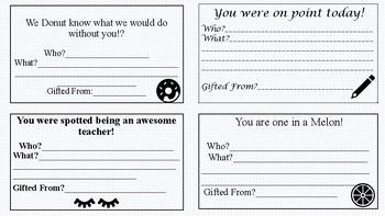 Teacher Kindness Cards