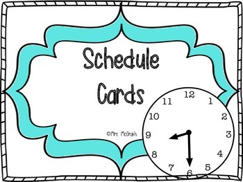 Turquoise Schedule Cards