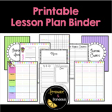 Printable Lesson Plan Binder