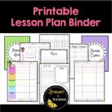 Teacher Lesson Plan Binder