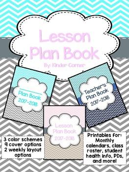 Teacher Planner 2017-2018 – Chevron Theme
