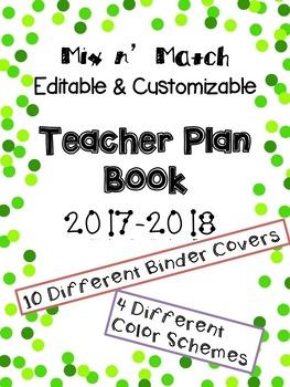 Teacher Lesson Plan Book: Mix n' Match Polka-Dot