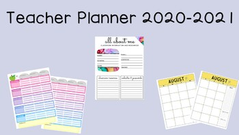 Teacher Lesson Plan Pages and Calendars