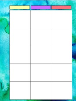 Teacher Lesson Plan Pages for Planners- PRINTABLE