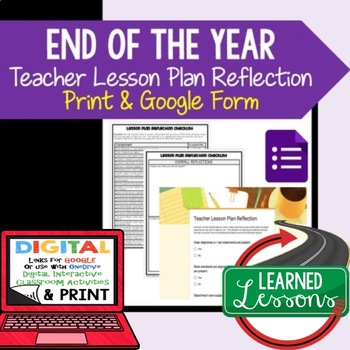 #teachersremember Teacher Lesson Plan Reflection, Print and Google Forms