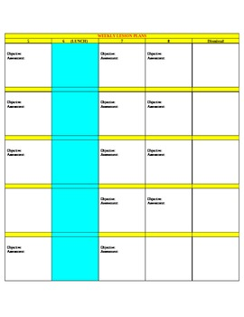 Teacher Lesson Planbook Template