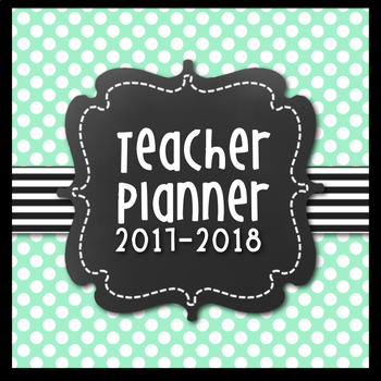Teacher Lesson Planner {Navy & Sea Green Themed}