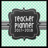 Teacher Lesson Planner {Navy & Sea Green Themed}