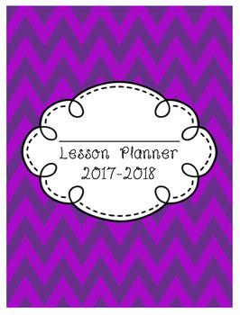 Teacher Lesson Planner 2017-2018