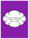 Teacher Lesson Planner 2017-2018