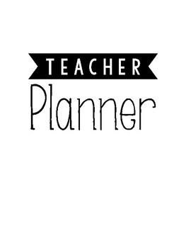 Teacher Lesson Planner - Black and White (August Start)