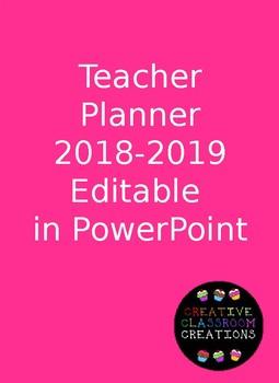 Teacher Lesson Planner Editable
