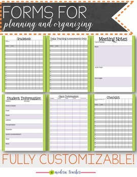 Teacher Binder and Planner with -- Free Updates -- Editable Owl Love