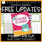 Teacher Binder and Planner Owl Free Updates Editable