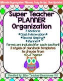 Lesson Plan Book and Organizer - Editable - Polka Dot and Owl Theme